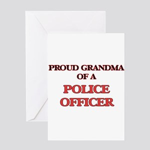 Proud Grandma of a Police Officer Greeting Cards